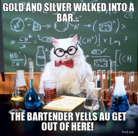 Gold and Silver walk into a bar